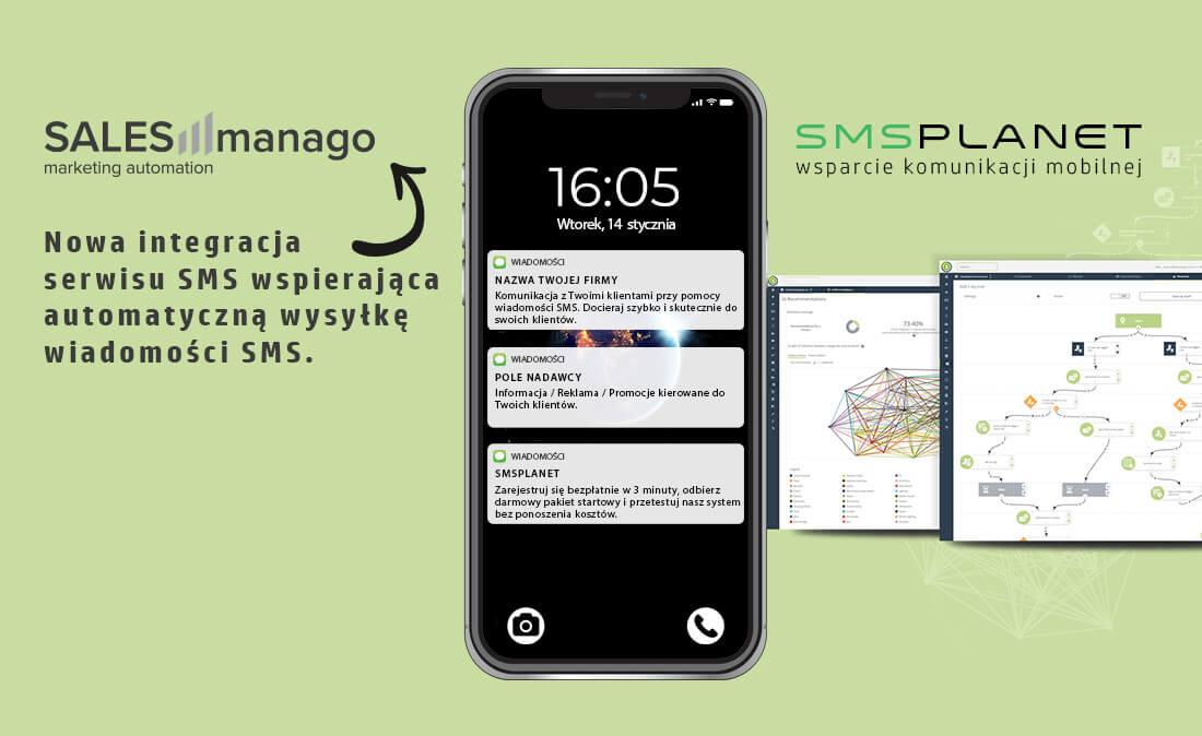 SALESmanago powiadomienia SMS